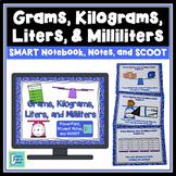 Metric Volume & Mass - Grams, Kilograms, Liters, Milliliters SMART Board Lesson