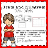 Grams or Kilograms Task Cards