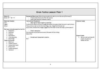Gran Torino lesson plans and activities