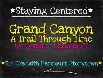 Grand Canyon - A Trail Through Time  4th Grade Harcourt Storytown Lesson 27