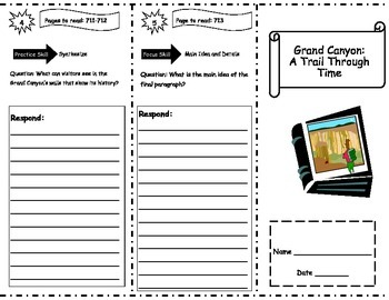Grand Canyon: A Trail Through Time Storytown Comprehension Trifold