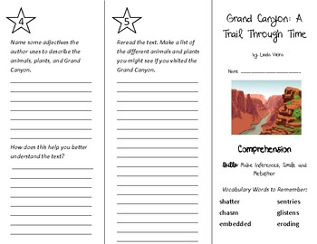 Grand Canyon A Trail Through Time Trifold - Into Reading 4th Grade Module 6 Wk 3
