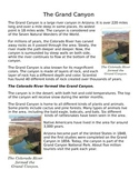 Grand Canyon Article