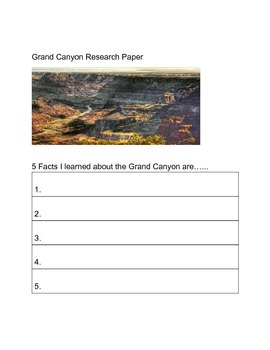 Grand Canyon Research Template