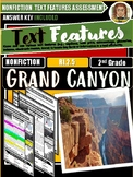 Grand Canyon Text Features Reading Comprehension RI.2.5