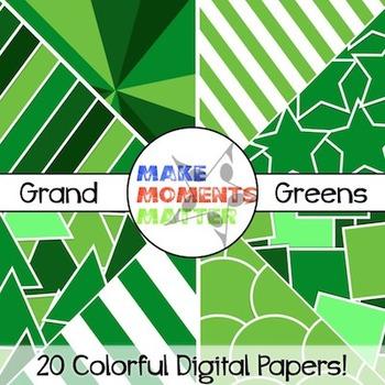 Grand Greens - Digital Paper Pack