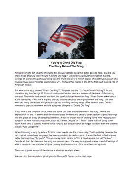 Grand Old Flag - Song Plus Lyrics and Song History
