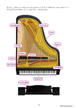 Grand Piano DECONSTRUCTED (Paper Craft Activity)