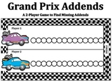 Grand Prix Addends - A 2-Player Game to Practice Finding Missing Addends