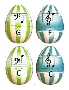 Spring Music Game: Grand Staff Basket