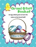 Spring Music Game: Grand Staff Basket