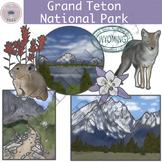 Grand Teton National Park Clipart Set