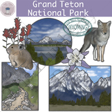 Grand Teton National Park Clipart Set