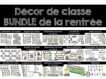 Grand ensemble d'affichage - Rentrée scolaire (Back to School)