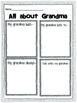 GrandParents Day {A writing Craftivity}