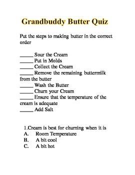 Grandbuddy Butter Making