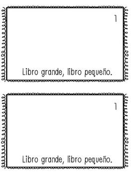 Grande y pequeño Mini-Book