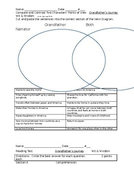 Grandfather's Journey by Allen Say Wit & Wisdom Packet