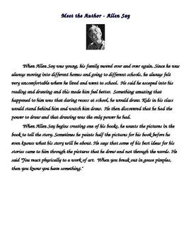 Grandfather's Journey Allen Say Author Study