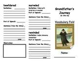 Grandfather's Journey Vocabulary Foldable