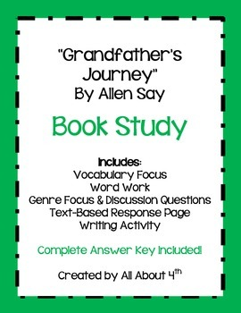 """Grandfather's Journey"" by Allen Say Complete Book Study"