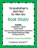 """""""Grandfather's Journey"""" by Allen Say Complete Book Study"""