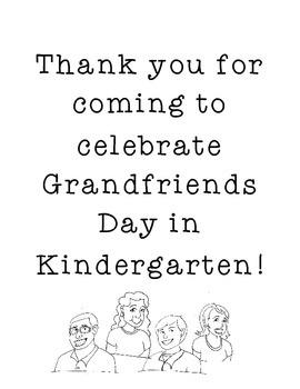 Grandfriends or Grandparents Day Activity in Kindergarten