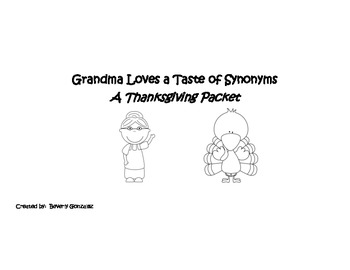 Grandma Loves a Taste of Synonyms Thanksgiving Theme