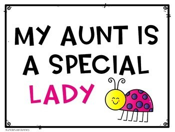 Grandma, Nana, & Aunt Gift for Mother's Day: Ladybug Book and Picture Frame