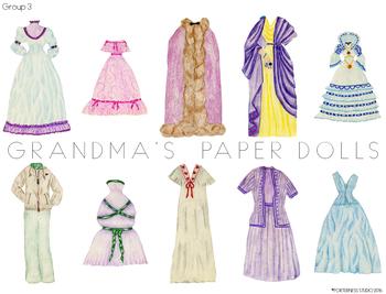 Grandma's Paper Dolls - Group 3