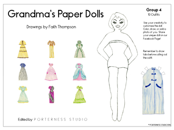 Grandma's Paper Dolls - Group 4