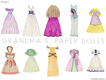 Grandma's Paper Dolls - Group 5