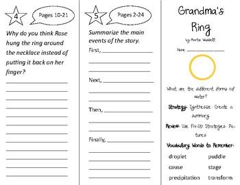 Grandma's Ring Trifold - 2nd Grade Literacy by Design Theme 15