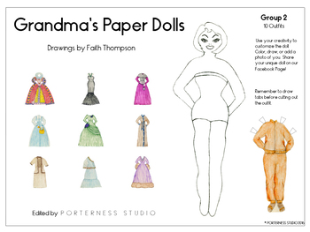 Grandma's Paper Dolls - Group 2