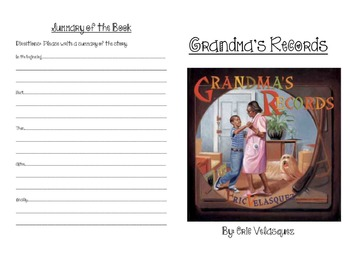 Grandma's Records Activity Booklet