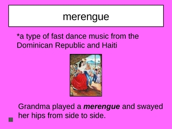 Grandma's Records Vocabulary Houghton Mifflin Series