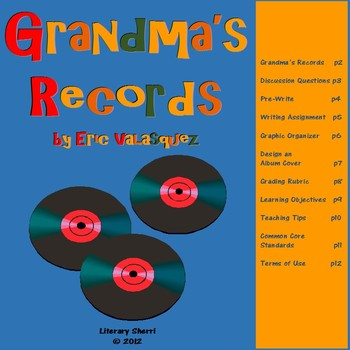 Grandma's Records by Eric Velasquez for Middle School (Grades 5, 6, 7)