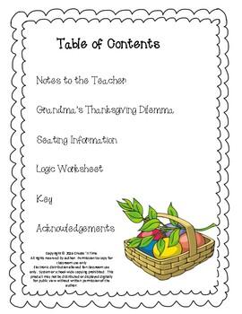 Grandma's Thanksgiving Dilemma: A Mathematics Logic Activity Packet