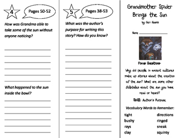 Grandmother Spider Brings the Sun Trifold - Imagine It 3rd Grade Unit 4 Week 2