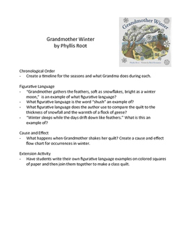 Grandmother Winter - Teaching Literacy Skills with Picture Books
