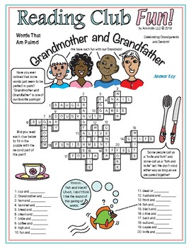 Grandmother and Grandfather (Paired Words) Crossword Puzzle