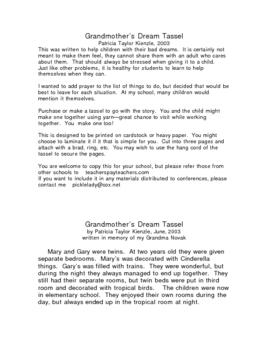 Grandmother's Dream Tassel