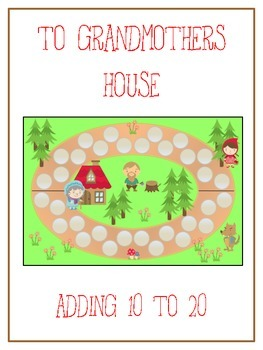 Grandmother's House Math Folder Game - Common Core - Adding 10 to 20