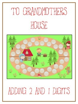 Grandmother's House Math Folder Game - Common Core - Adding 2 & 1 Digit Numbers