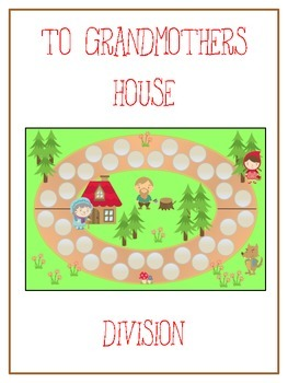 Grandmother's House Math Folder Game - Common Core - Divis