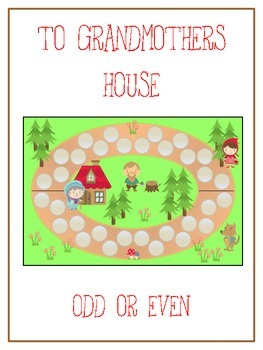 Grandmother's House Math Folder Game - Common Core - Even and Odd Numbers