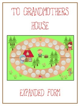 Grandmother's House Math Folder Game - Common Core - Expanded Form