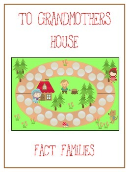 Grandmother's House Math Folder Game - Common Core - Fact Families