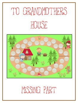 Grandmother's House Math Folder Game - Common Core - Finding the Missing Part