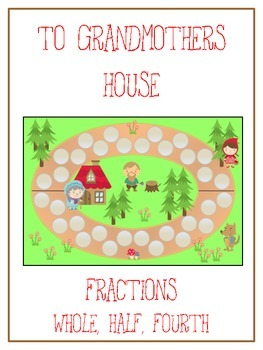 Grandmother's House Math Folder Game - Common Core - Fractions